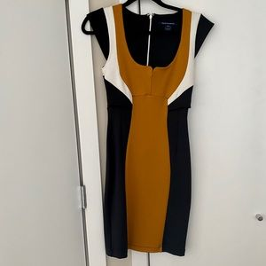 French Connection color block dress size 6